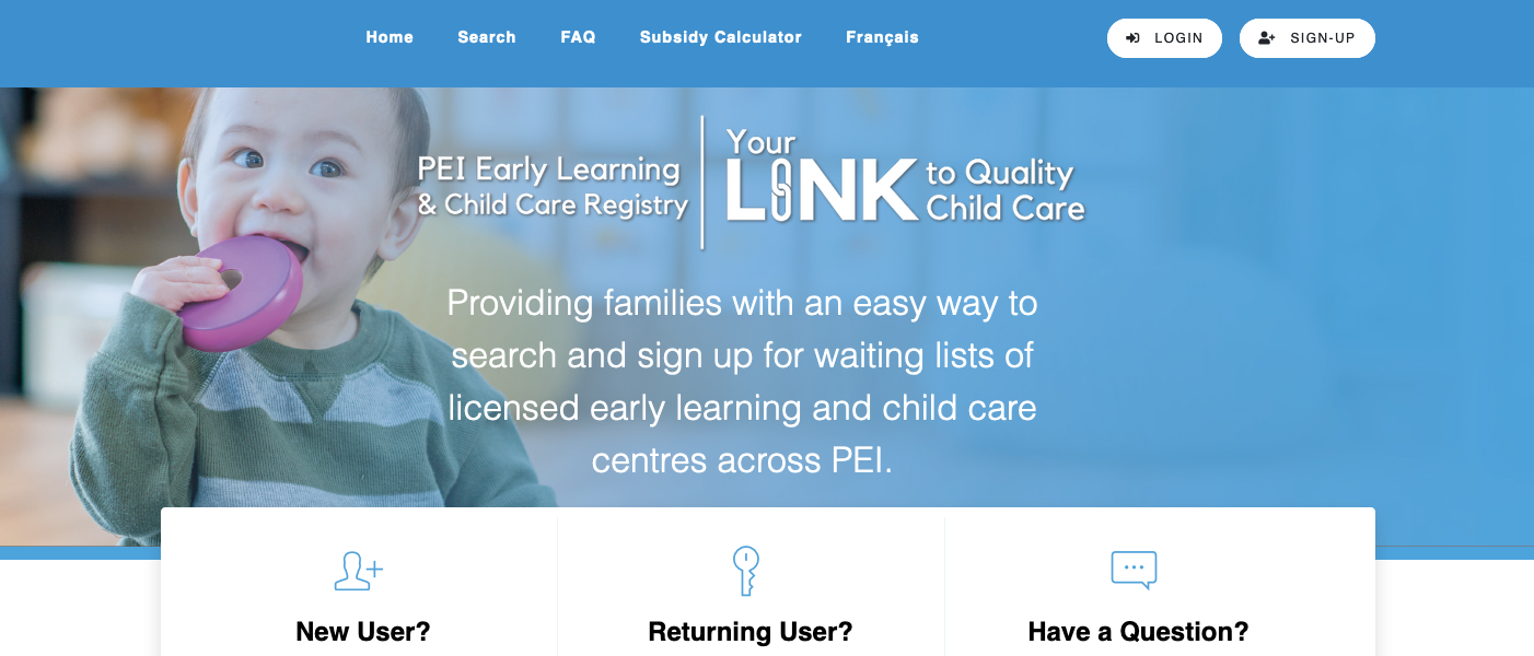 PEI Child Care Registry