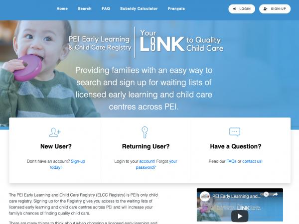 PEI Child Care Registry